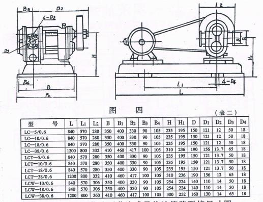 lcw罗茨齿轮泵安装尺寸 - 泊头市大江泵业制造有限公司